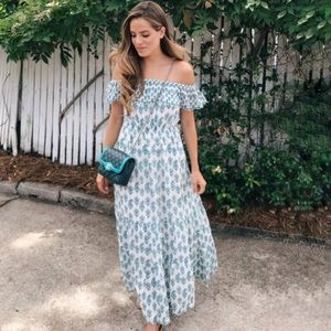 Club Monaco Channon Off Shoulder Maxi Dress